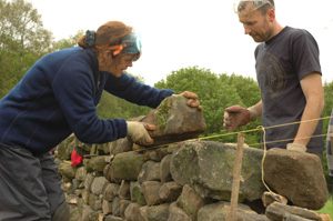 Drystone walling course